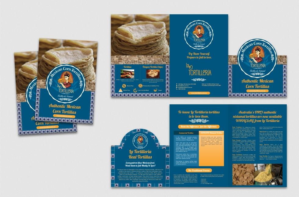 La Tortilleria Brochure Design   Rochelle Design Studio